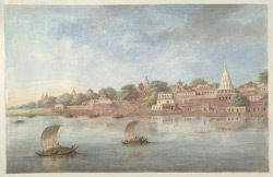 Part of the ghats at Benares